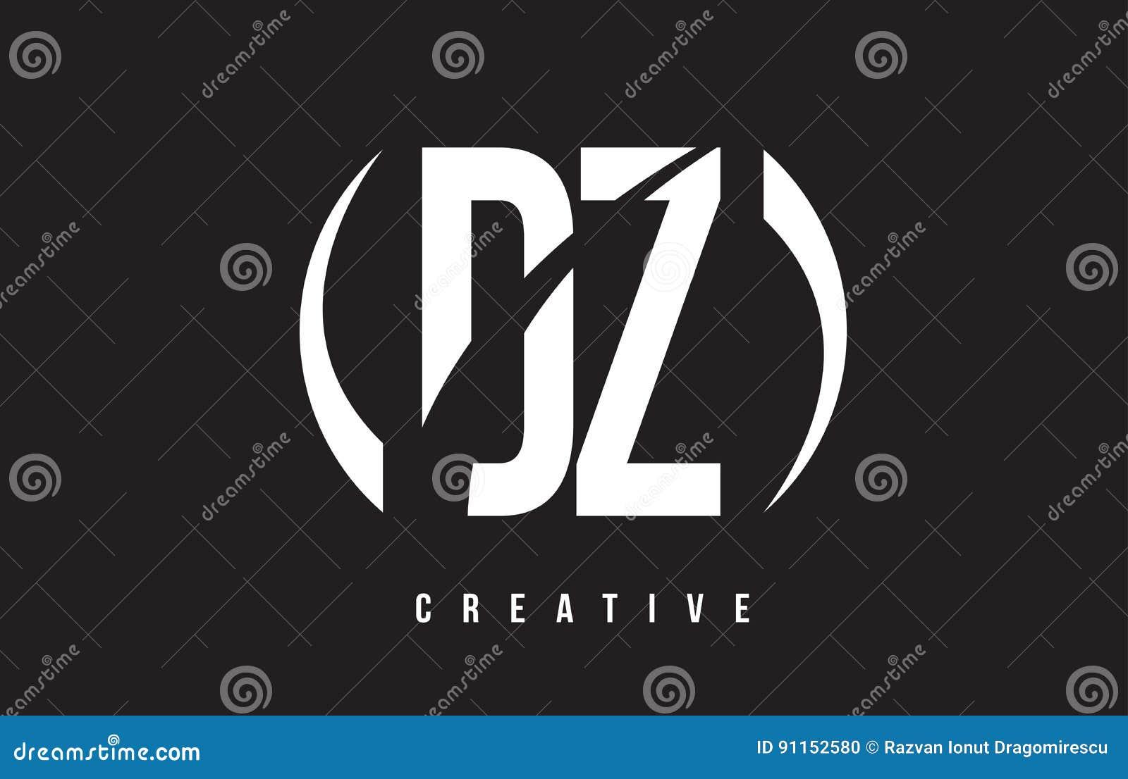 DZ D Z White Letter Logo Desig...