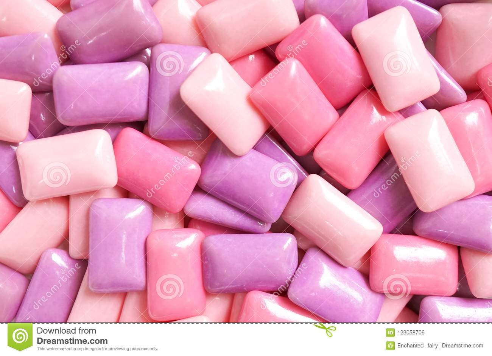 Dziąsło kolorowy confectionary tło cukierków dziąsła wewnątrz differen