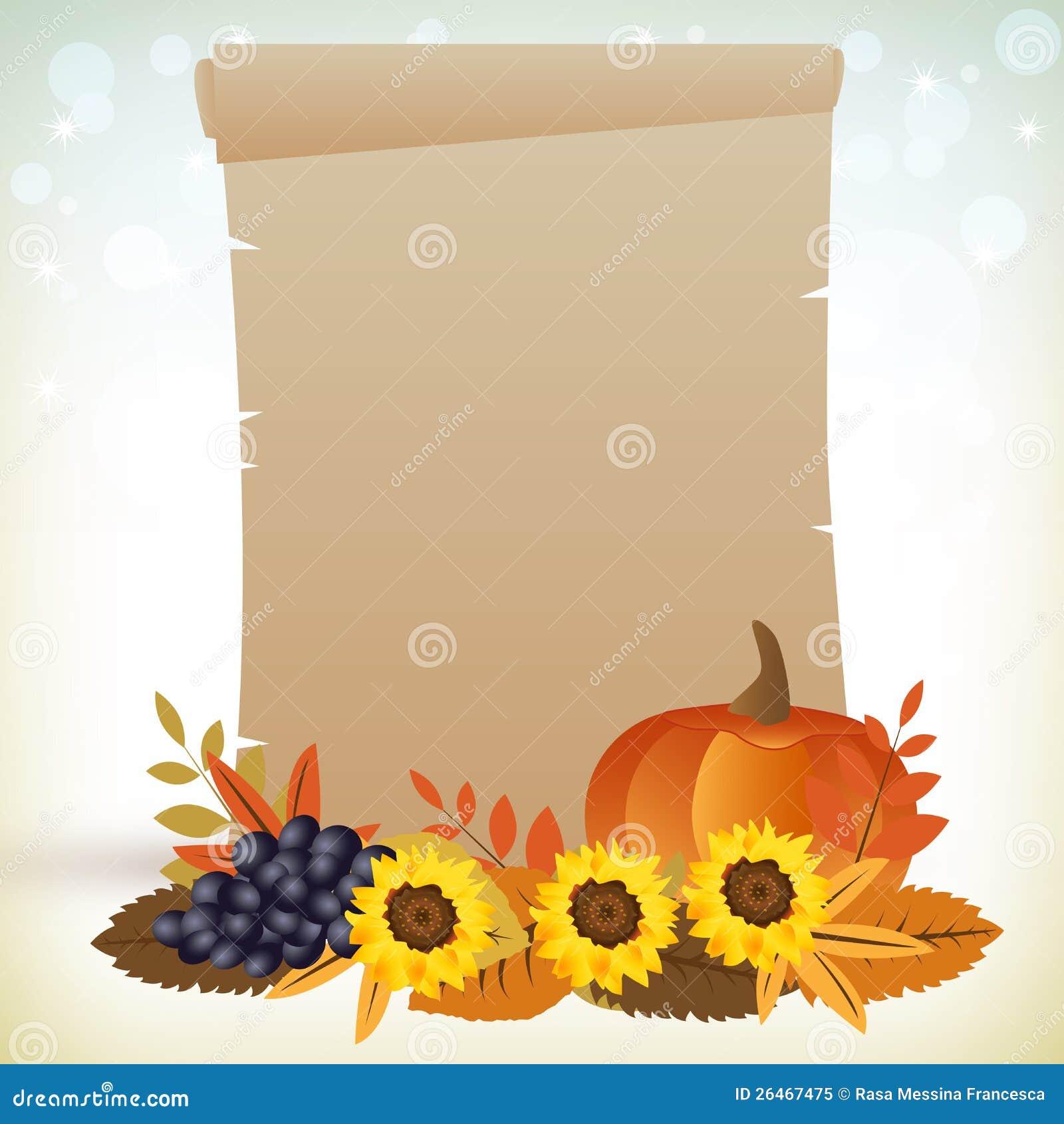 Dziękczynienie pergamin