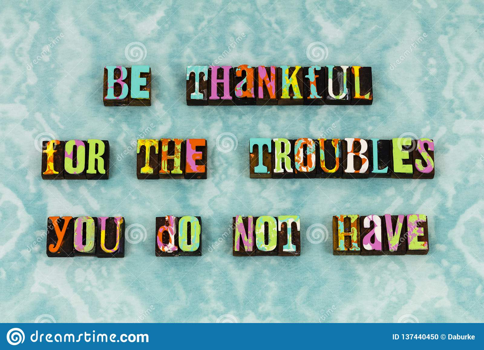 Dziękczynny wdzięczny błogosławiony kłopot radości letterpress