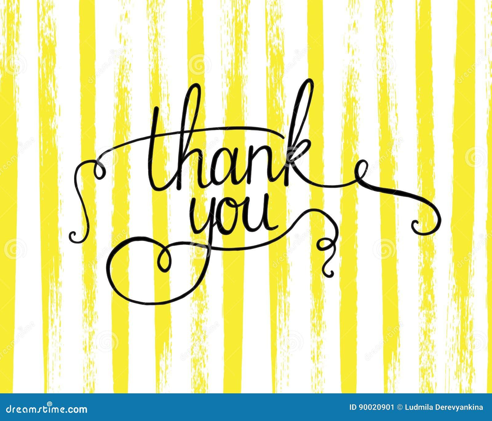 Dziękuje ciebie literowanie Abstrakcjonistyczny tło z szczotkarskimi uderzeniami geometryczna tekstura abstrakcyjny tło