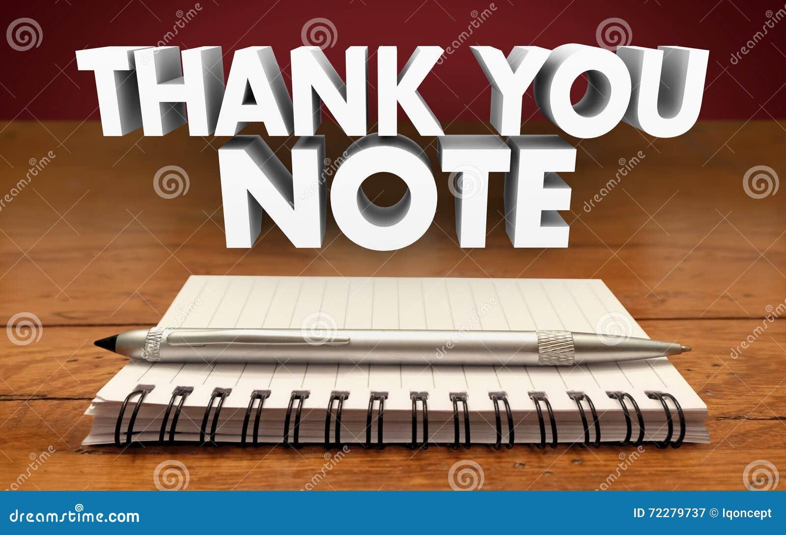 Dziękuje Ciebie Zauważa Pisze Notepad pióra docenieniu Komunikuje