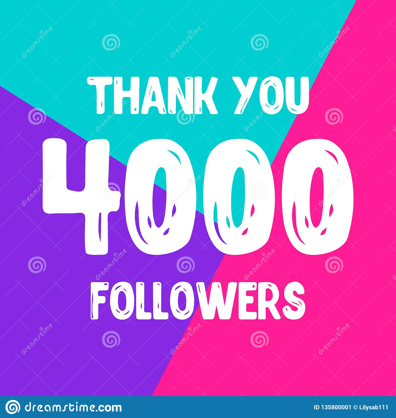 Dziękuje ciebie 4000 zwolenników sieci ogólnospołeczna poczta