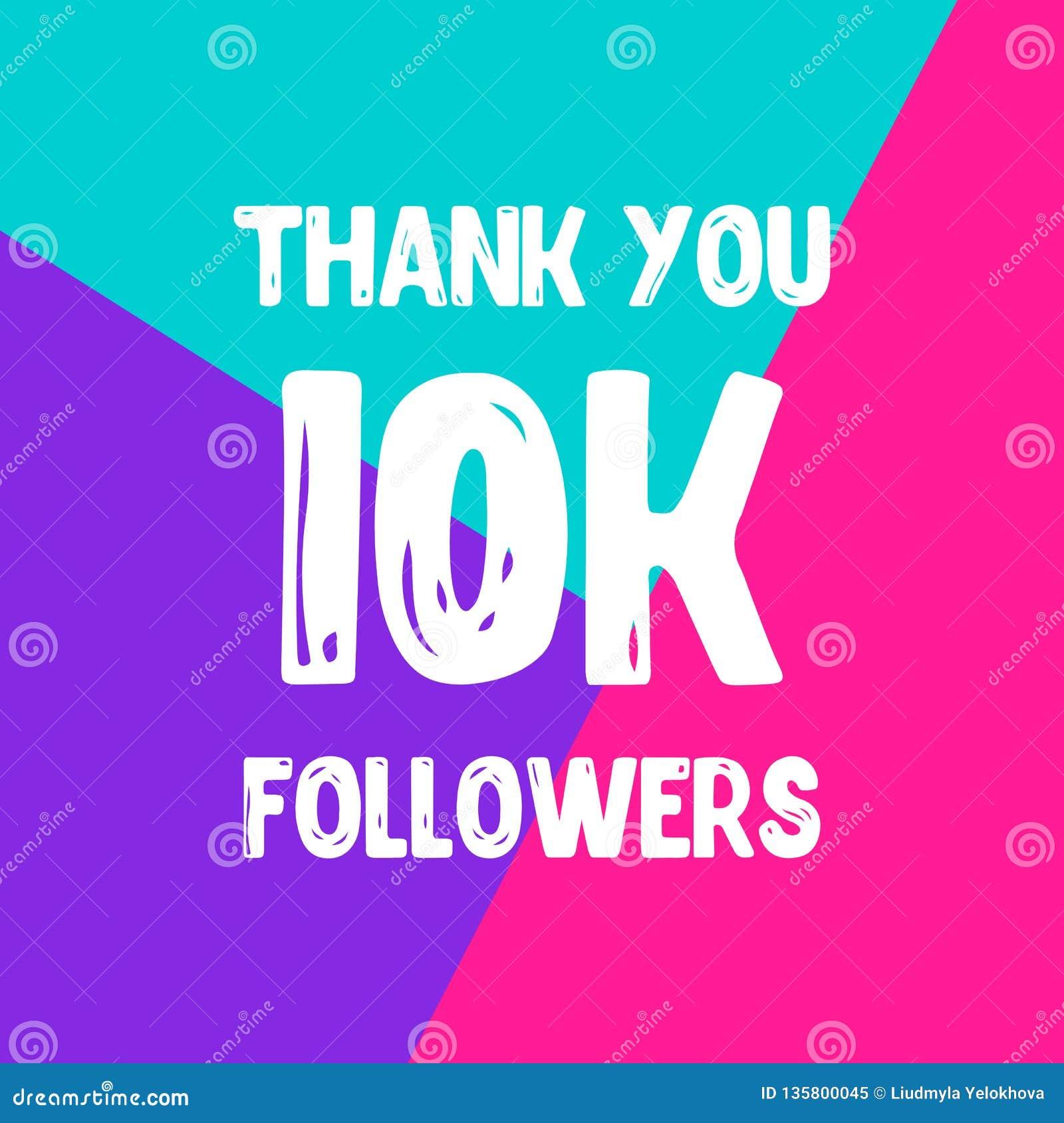 Dziękuje ciebie 10 000 zwolenników sieci ogólnospołeczna poczta