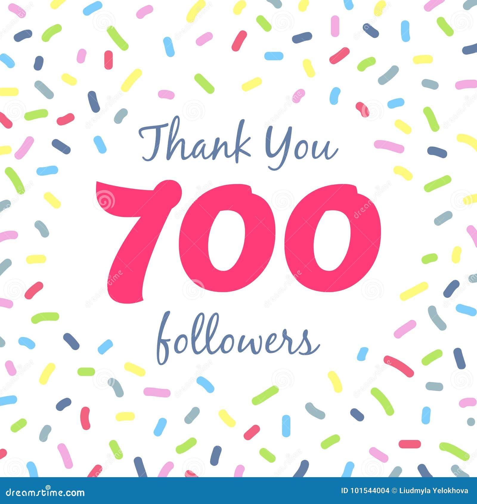 Dziękuje ciebie 700 zwolenników sieci poczta