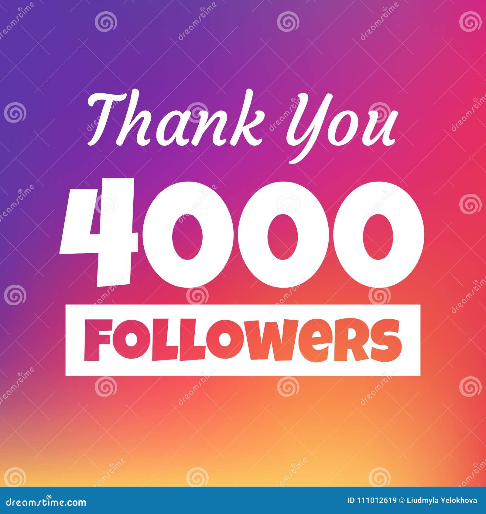 Dziękuje ciebie 4000 zwolenników sieci sztandar