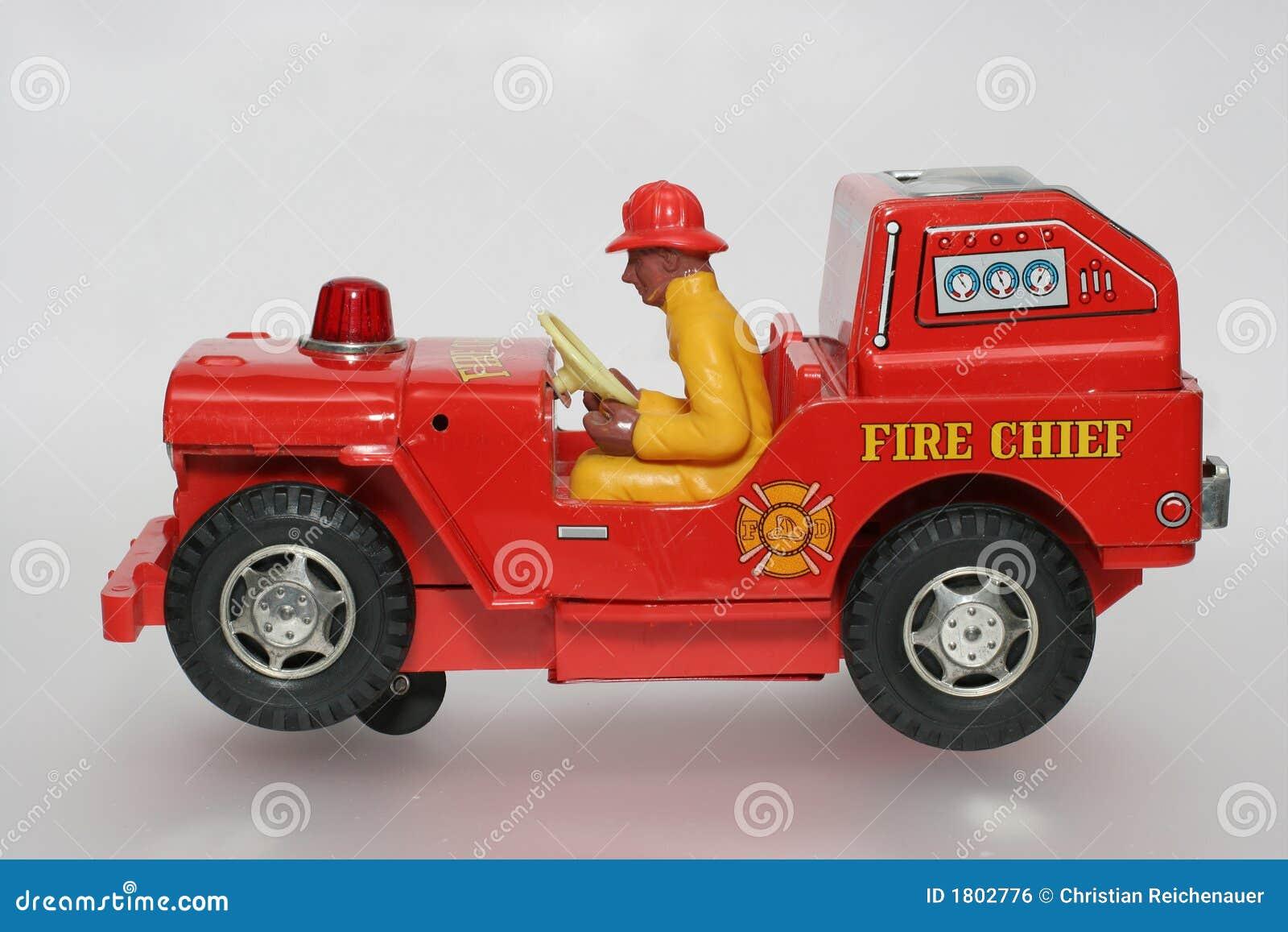 Działania kierowcy wodza ogień sideview zabawka