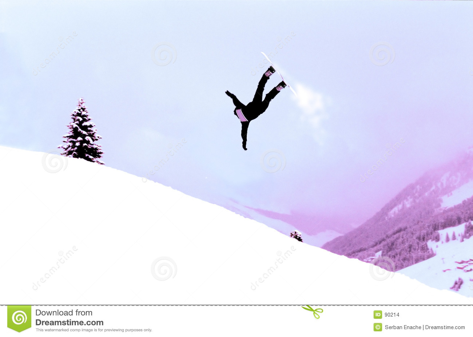 Działania snowboarder