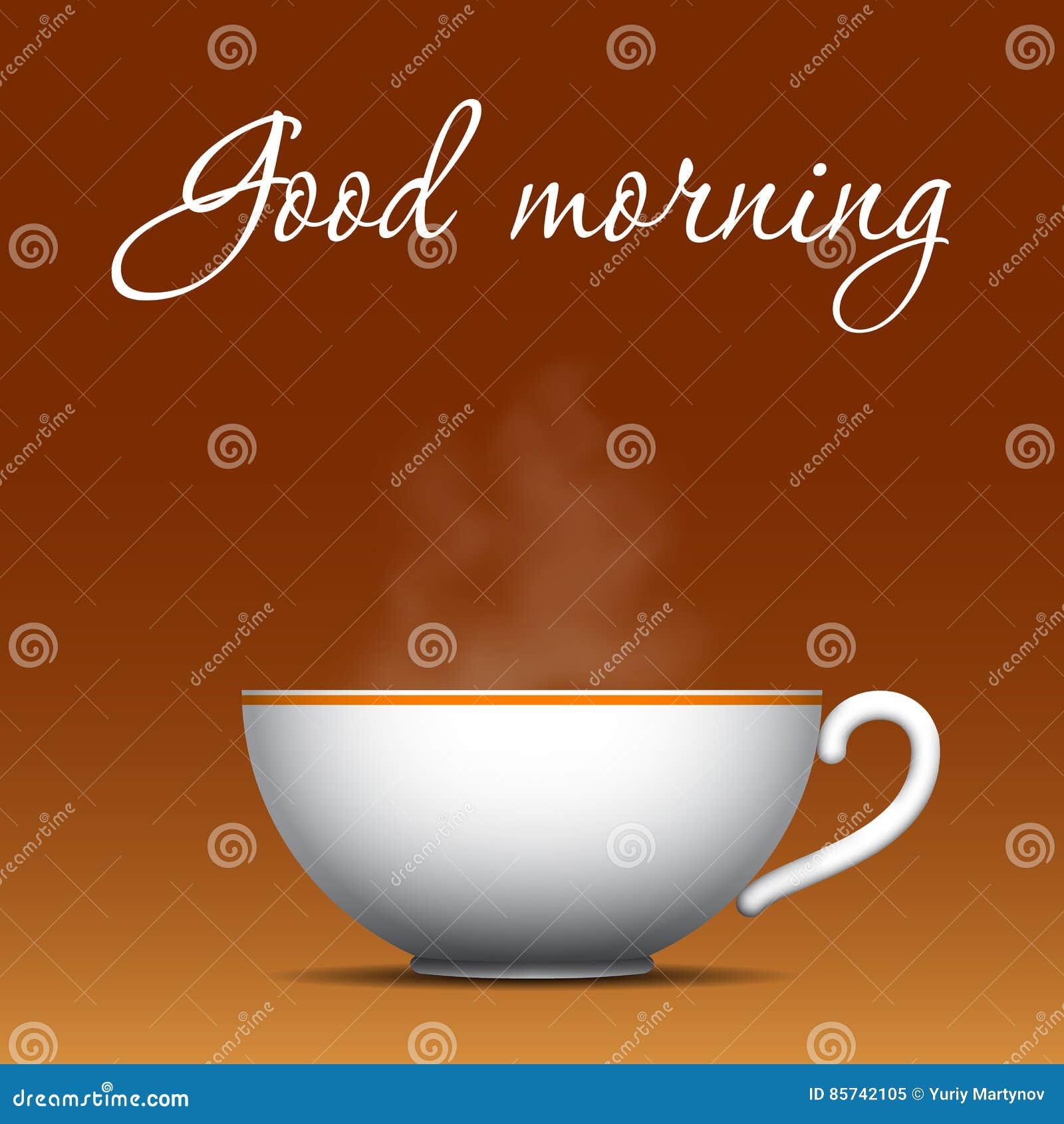Dzień Dobry Kawy Tło Ilustracja Wektor Ilustracja Złożonej