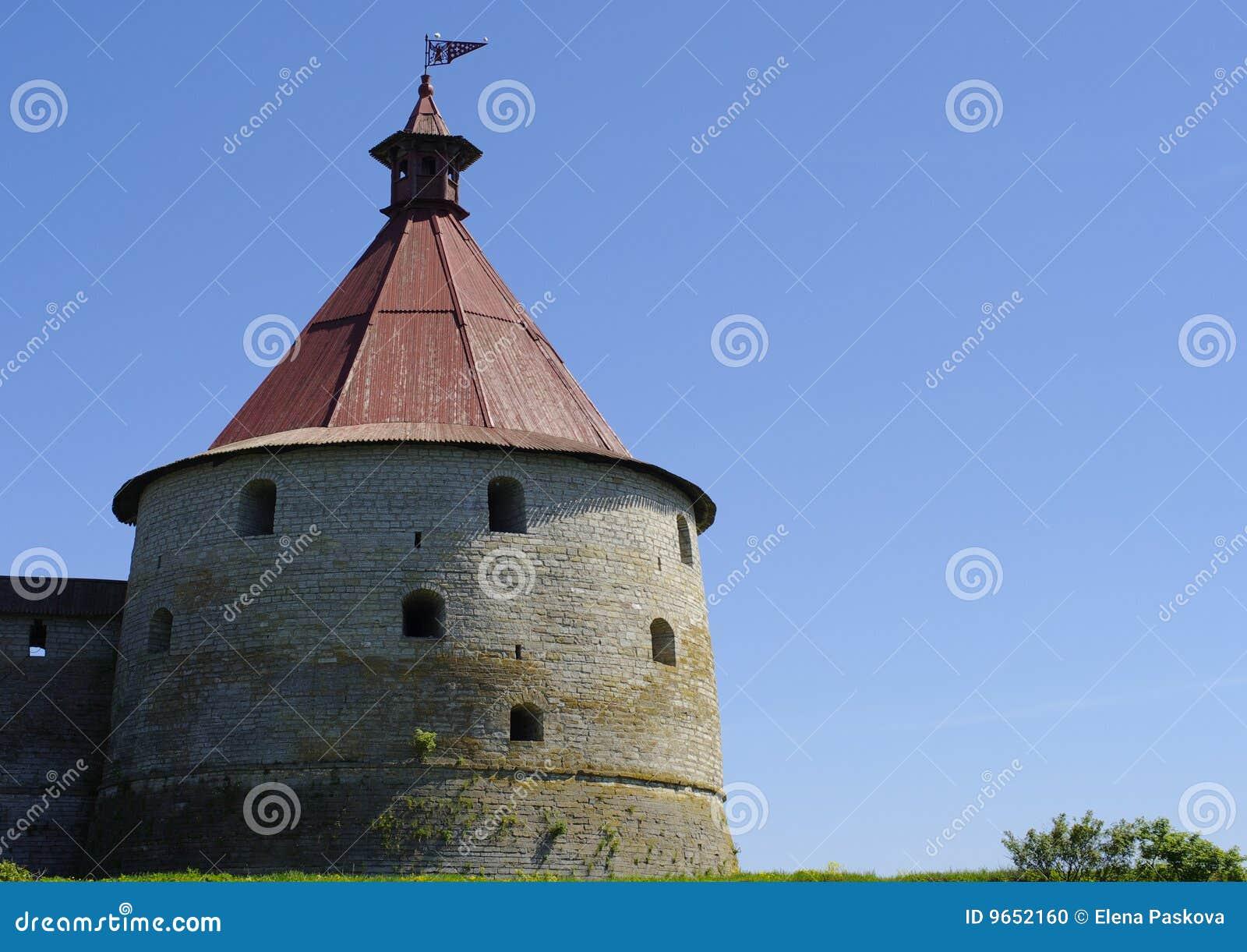 Dzień fortecznego schlisselburg pogodny wierza