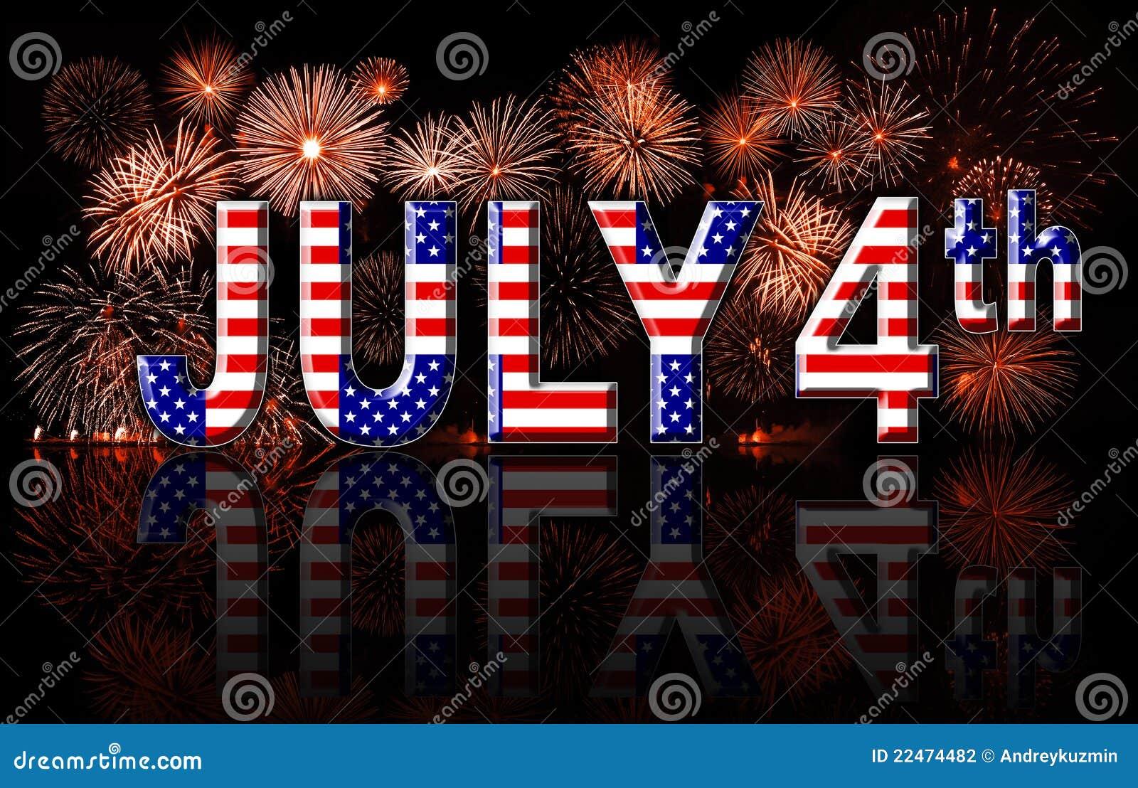 Dzień Niepodległości 4th Lipiec pojęcie