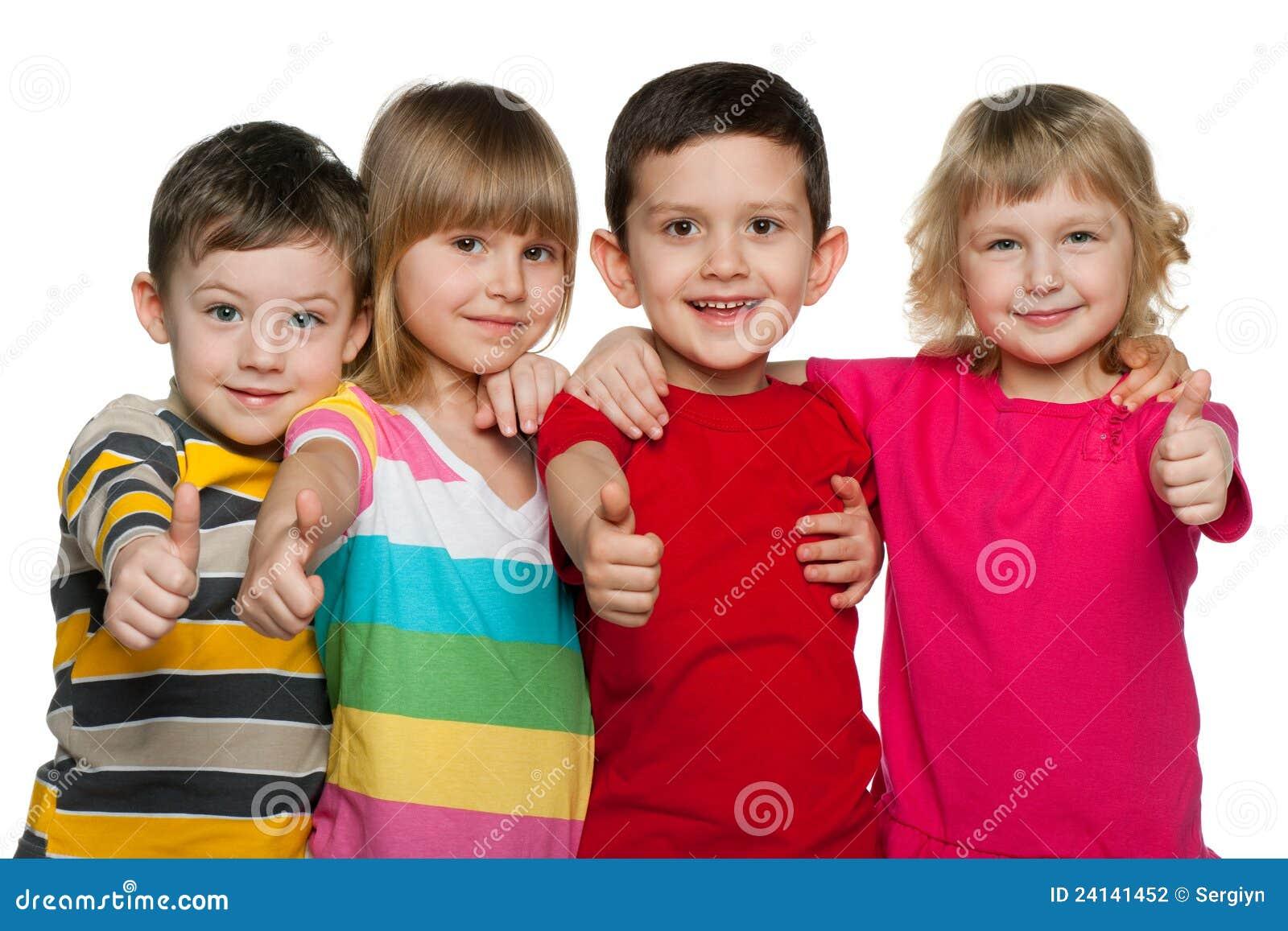 Dzieci cztery grupy
