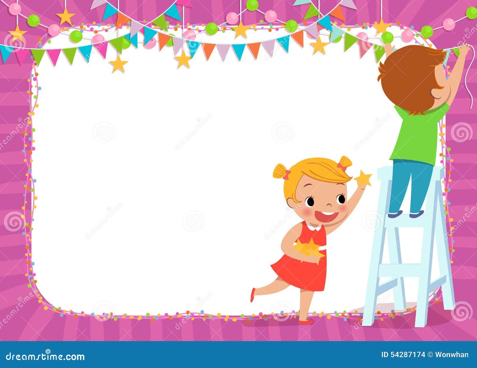 Dzieci dekoruje dla przyjęcia