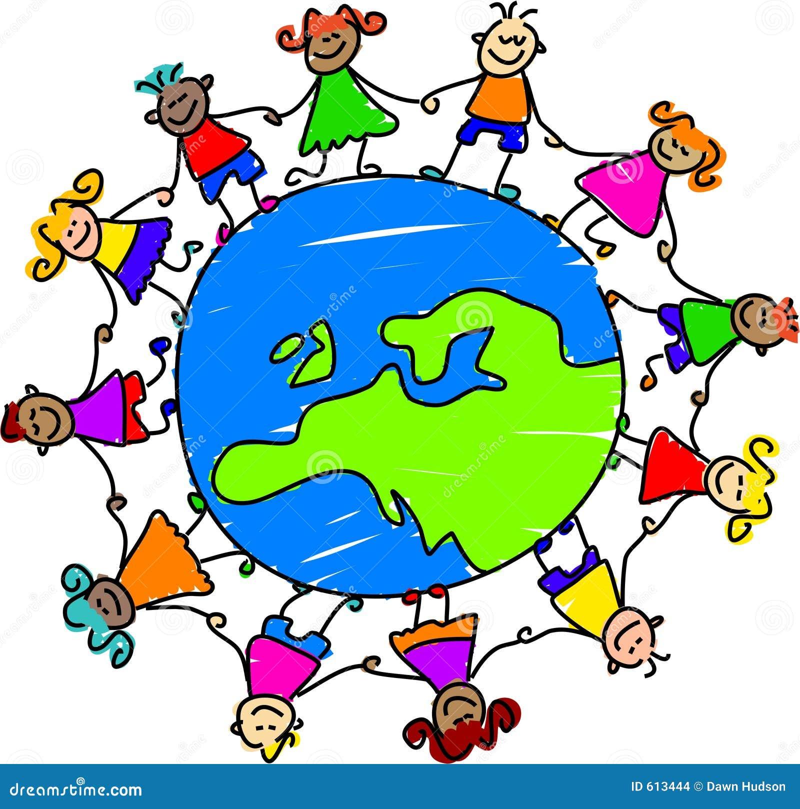 Dzieci europejskich ilustracja wektor. Ilustracja złożonej z ...