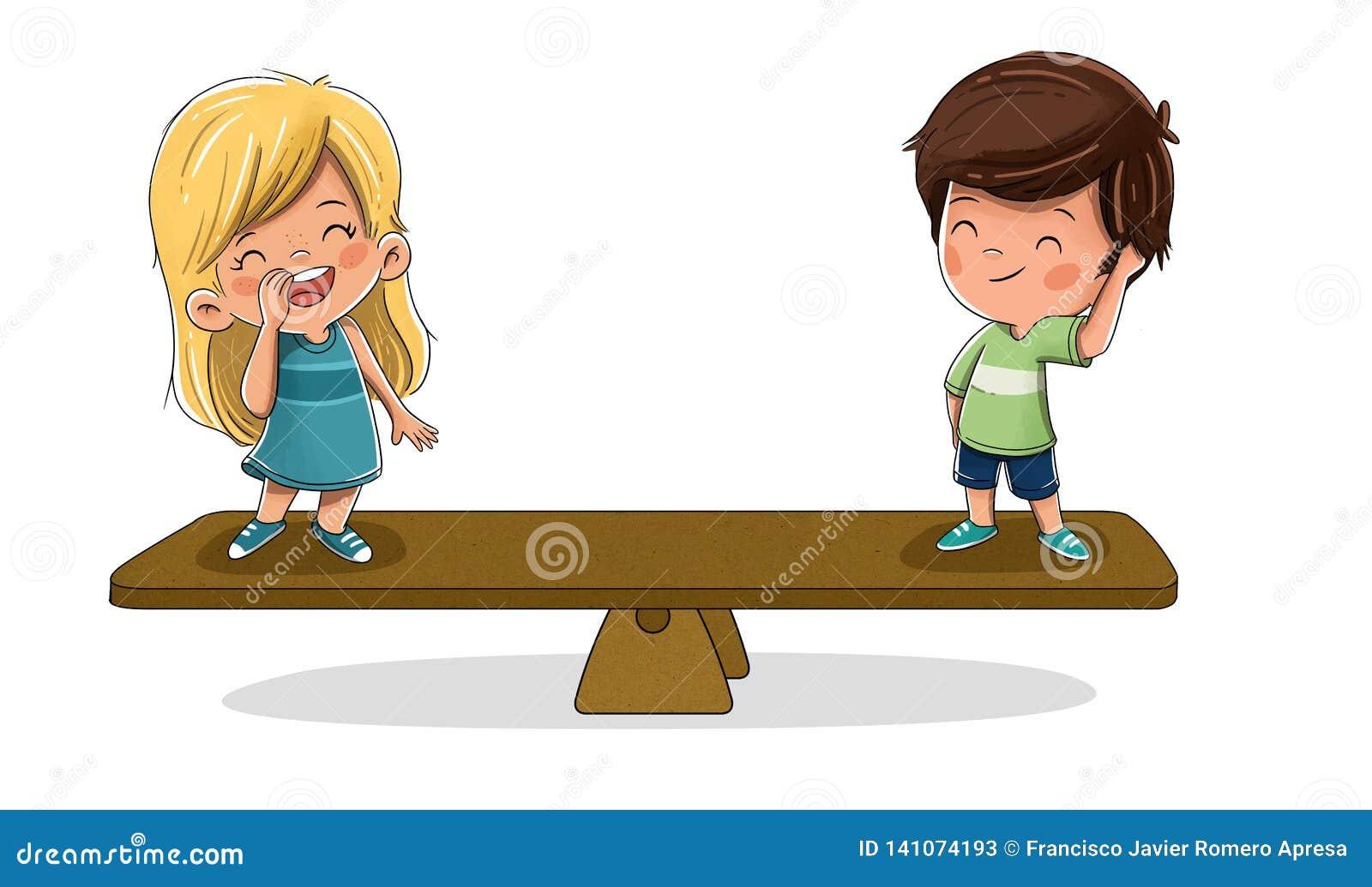 Dzieci na skali Pojęcie równość