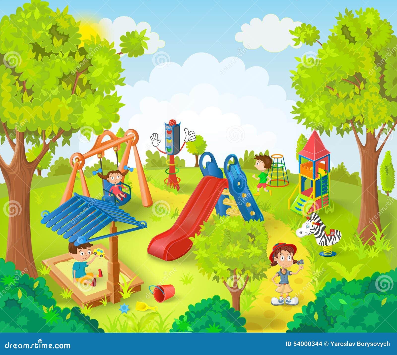 Dzieci parkują grać