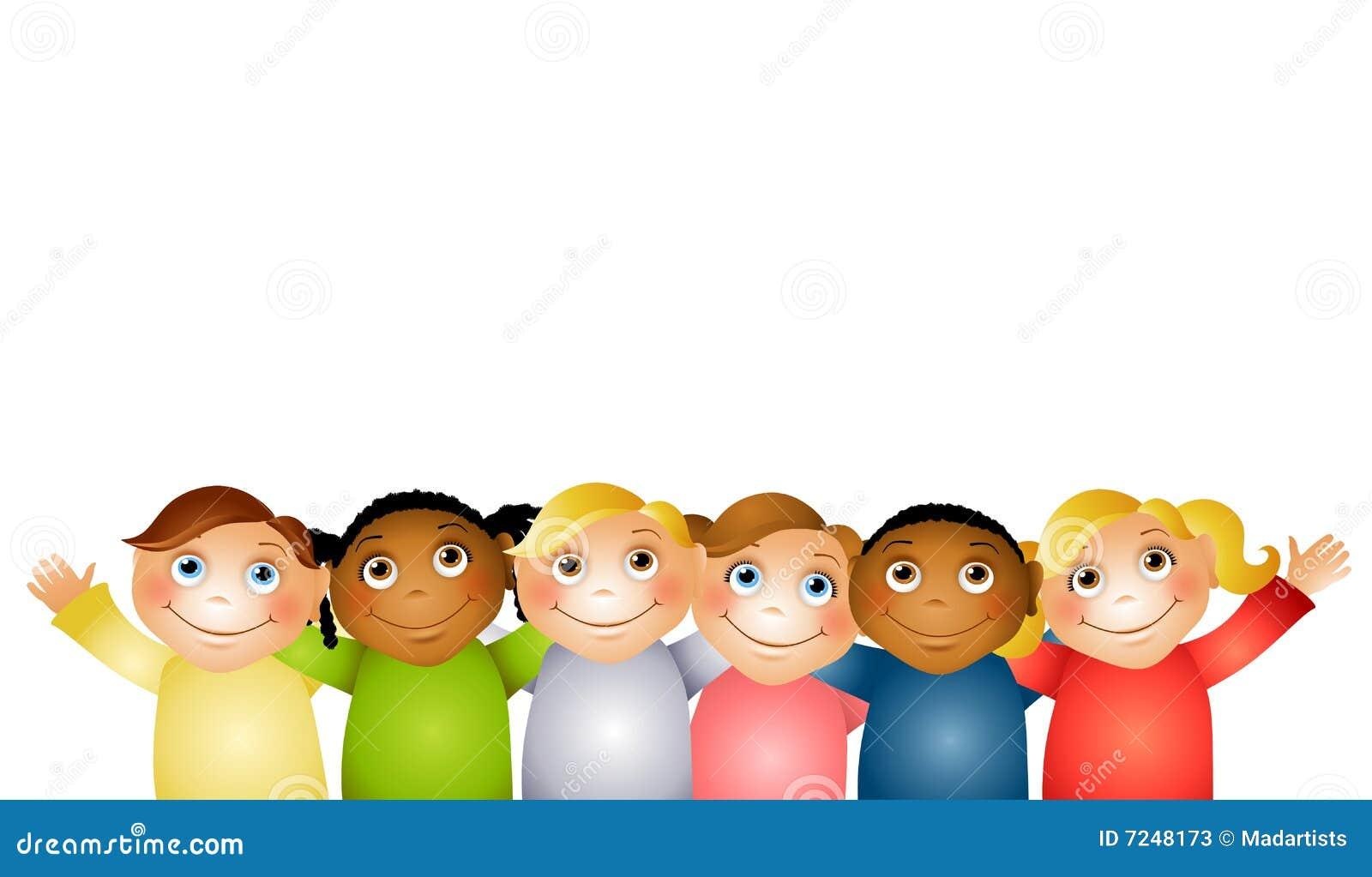 Dzieci przyjaciół grupy uściśnięcie