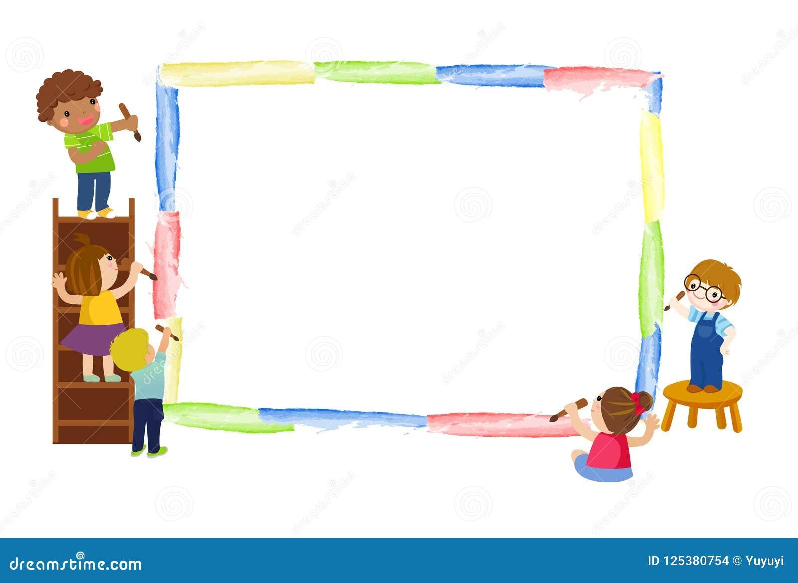 Dzieci się malować