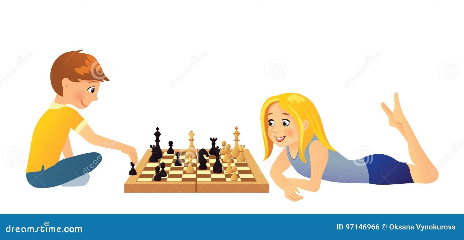 Dzieci szachów grać