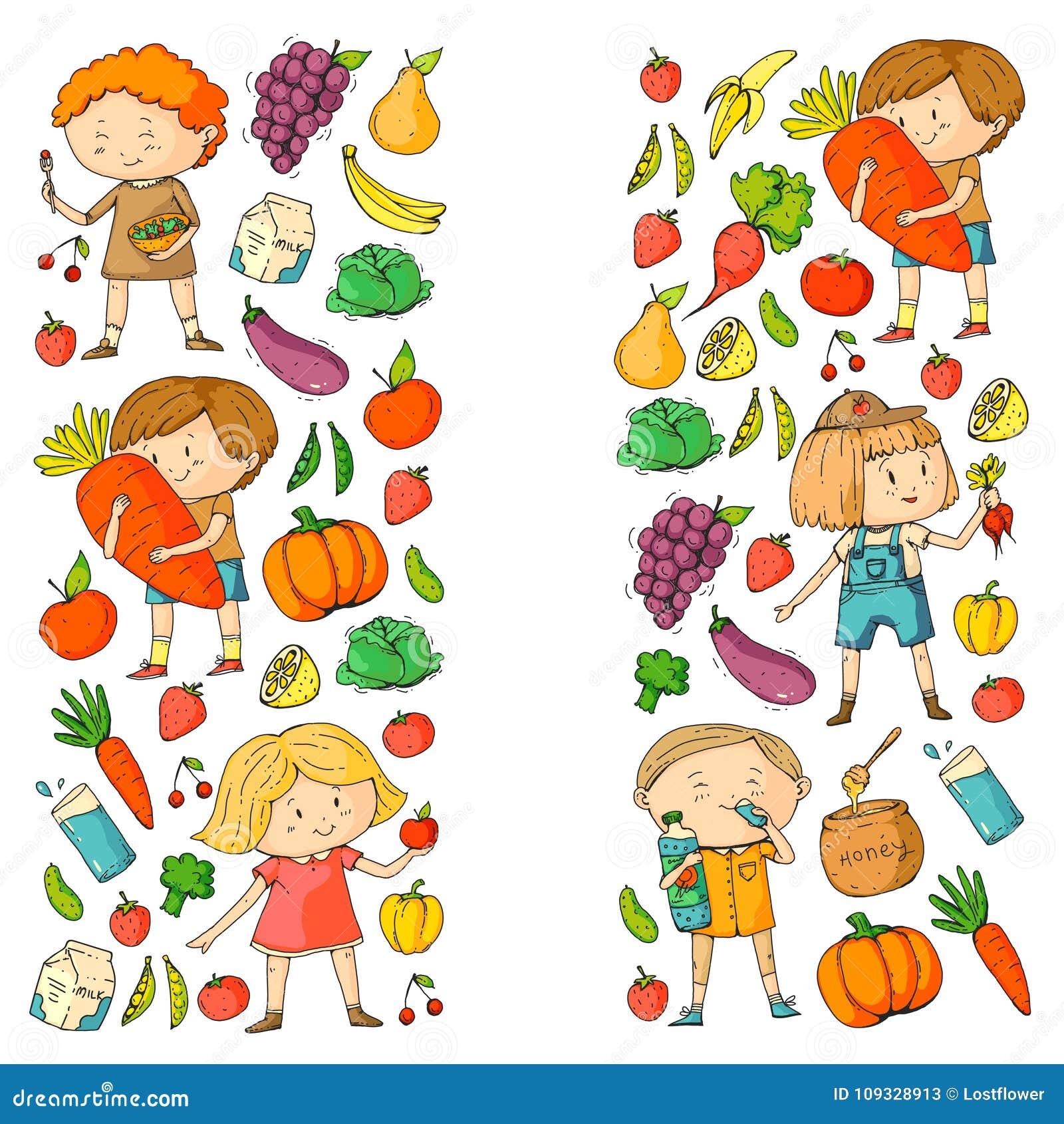 Dzieci Szkola I Dzieciniec Zdrowy Jedzenie I Napoje Zartuje Kawiarni