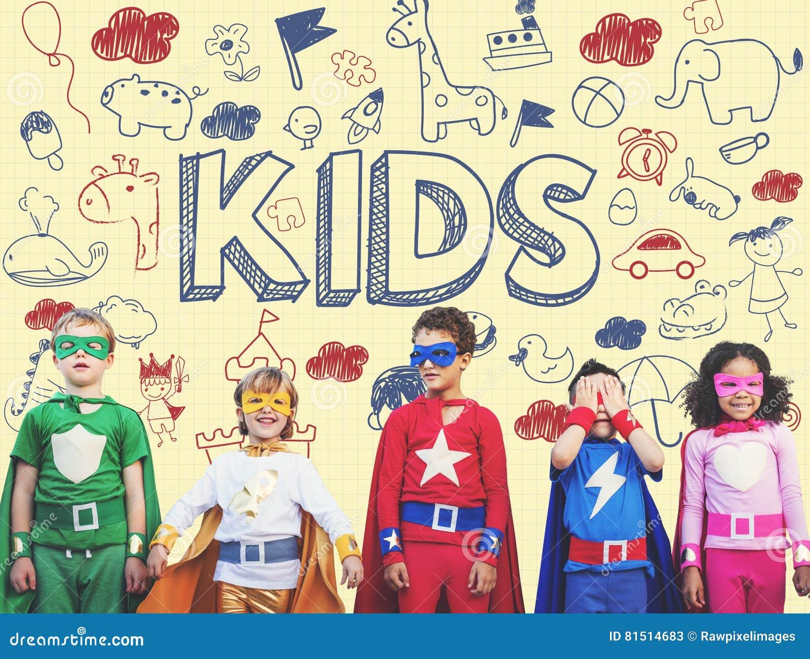 Dzieciaków dzieci radości dziecka Szczęśliwy pojęcie