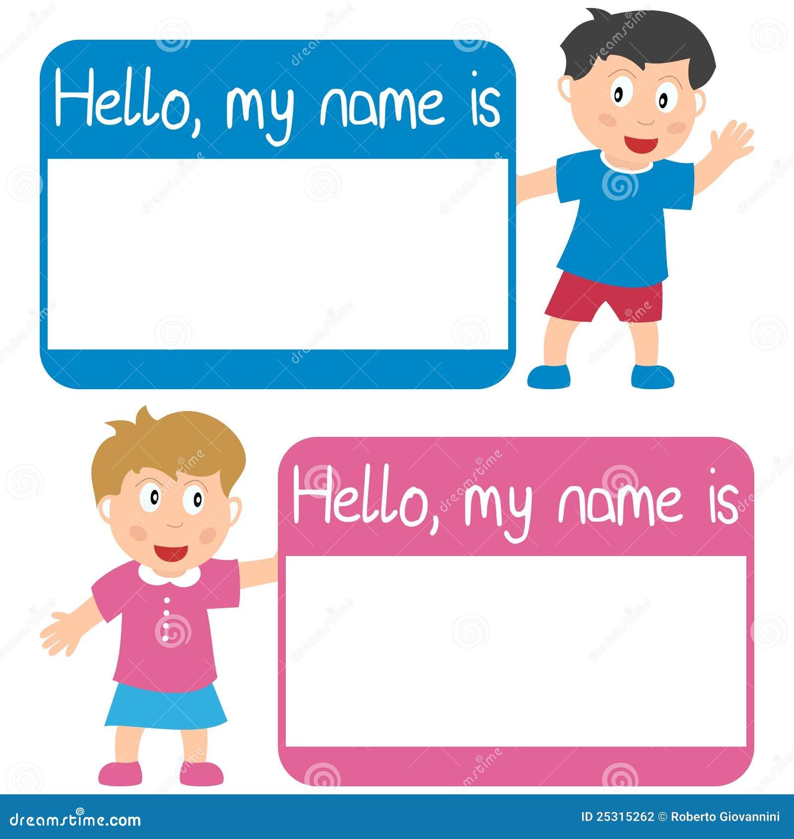 Dzieciaków imienia etykietka