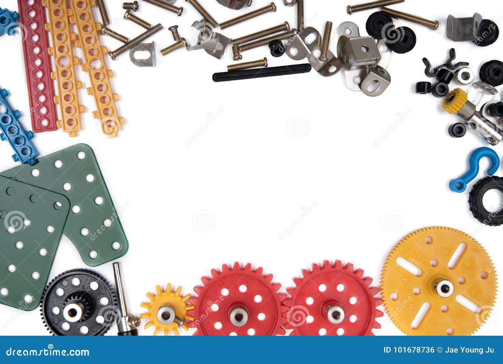 Dzieciak budowa bawi się narzędzia, Kolorowi zabawek narzędzia