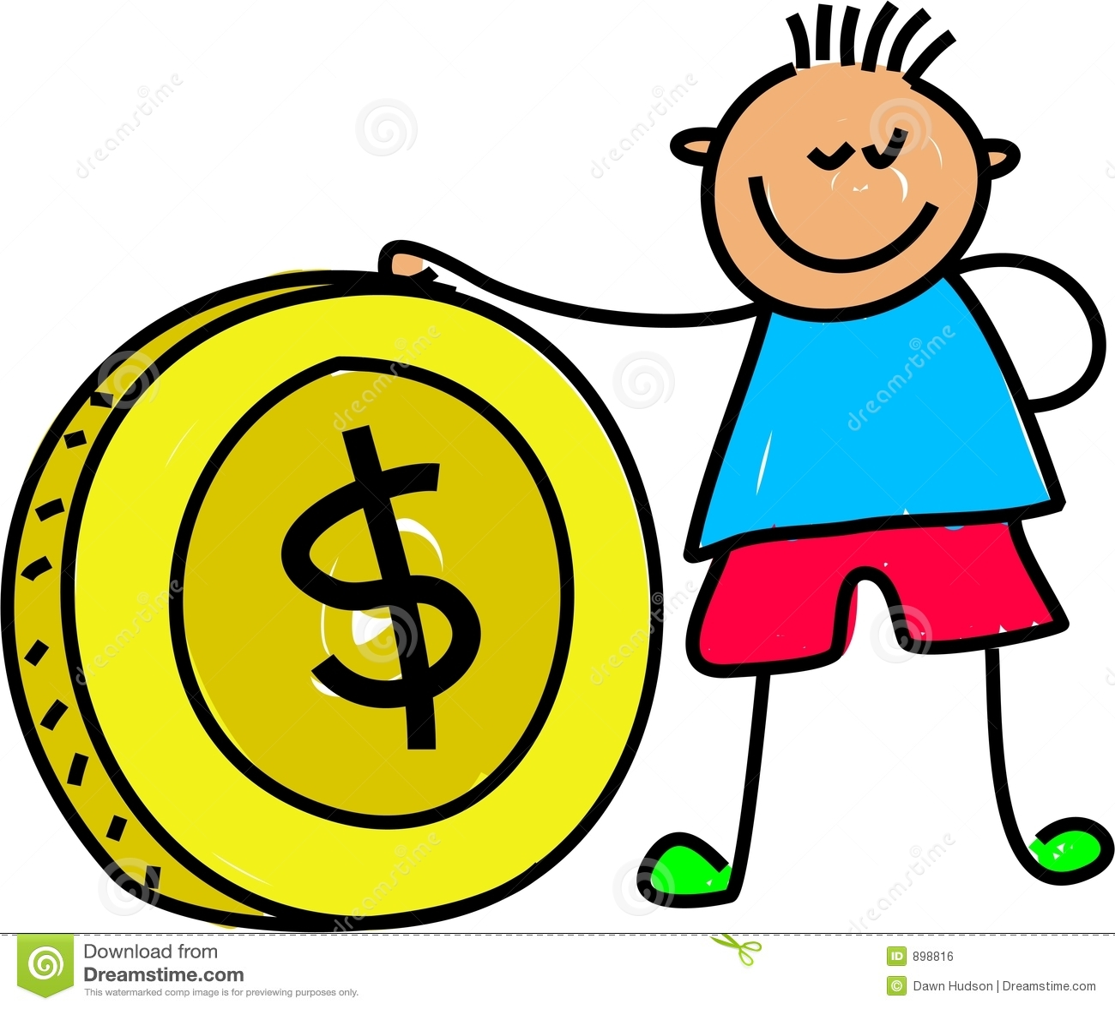 Dzieciak pieniądze