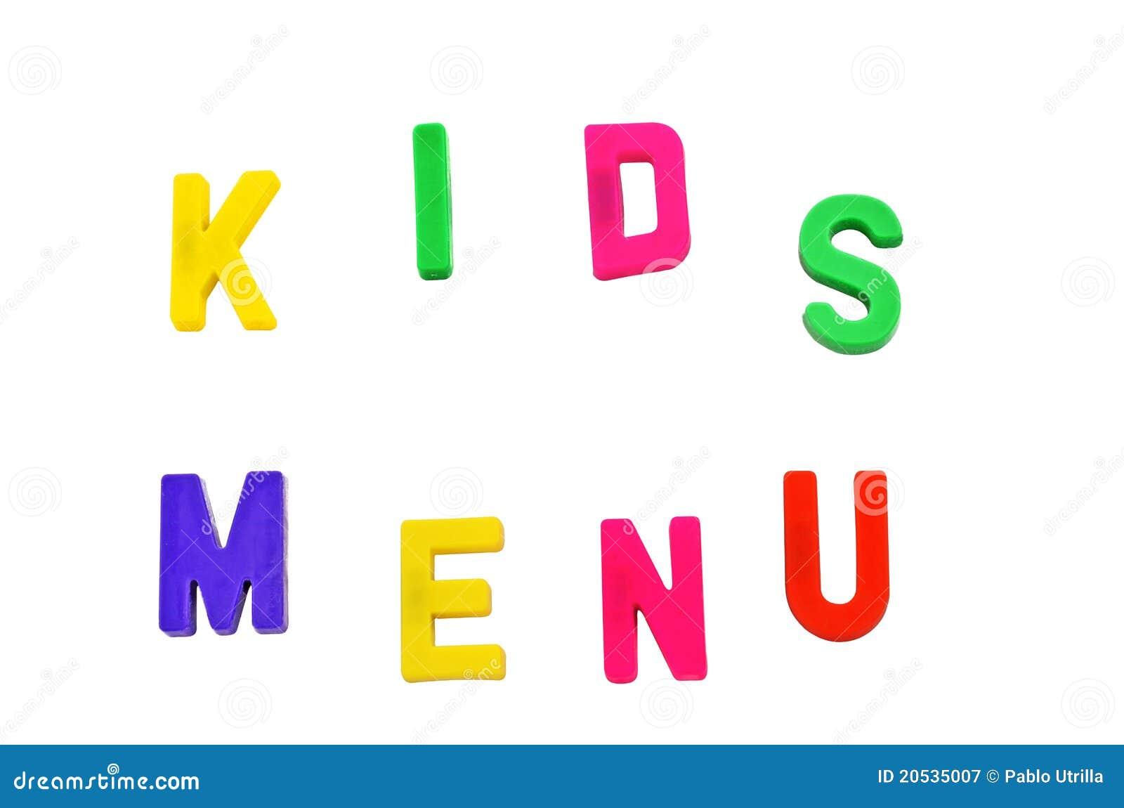 Dzieciak pisze list magnesu menu s