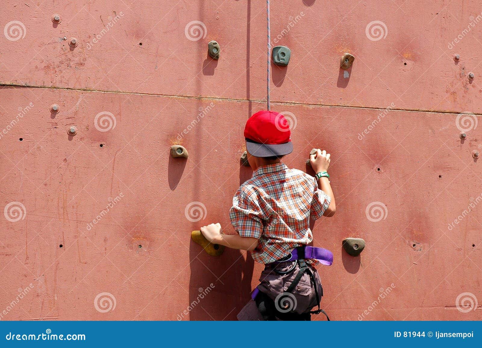 Dzieciak wspinaczkowa ściany