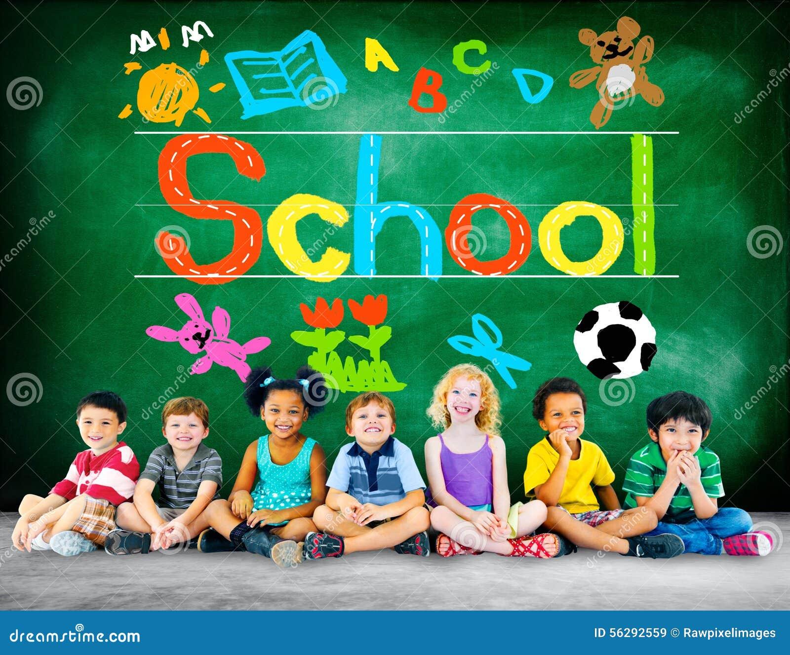Dzieciak wyobraźni Handwriting szkoły uczenie pojęcie