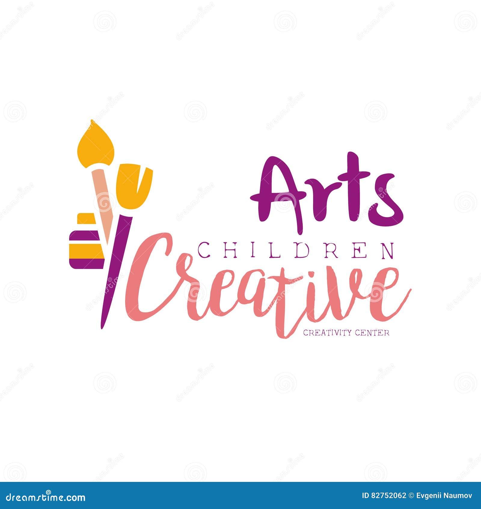 Dzieciaka Kreatywnie Klasowego szablonu Promocyjny logo Z, symbole sztuka, twórczość, i
