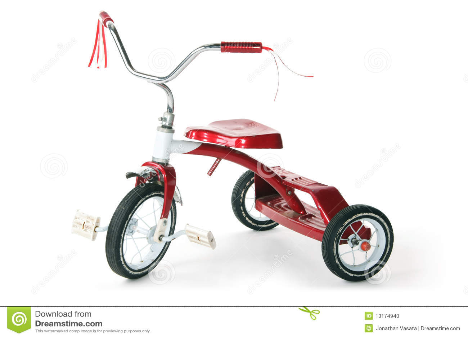Dzieciaka trójkołowiec czerwony retro s