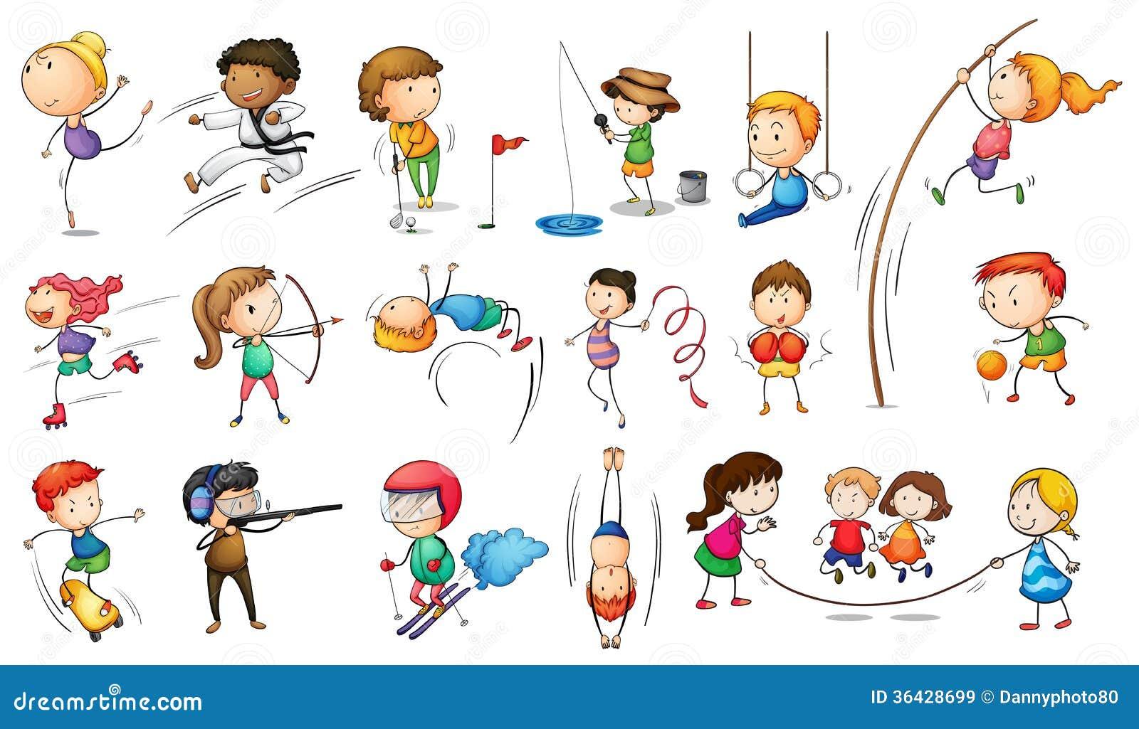 Dzieciaki angażuje w różnych sportach