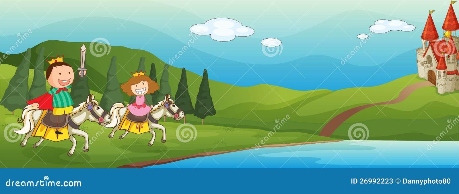 Dzieciaki i koń