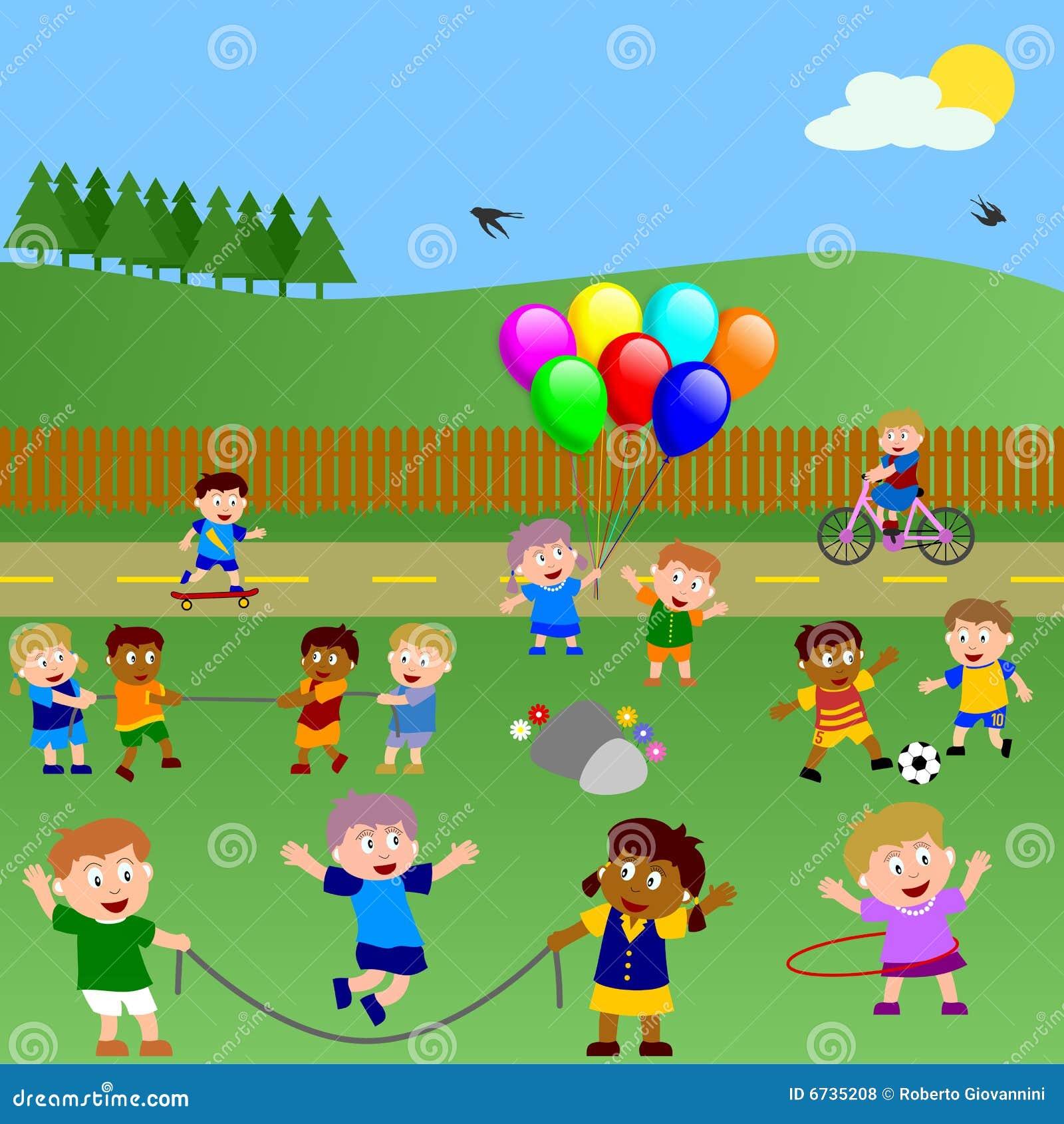 Dzieciaki parkują bawić się