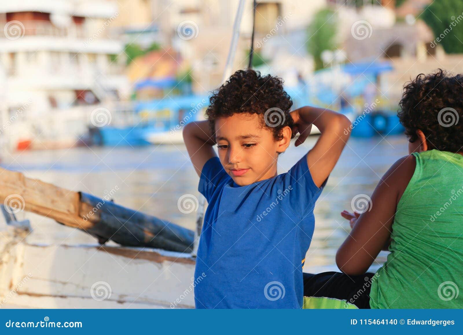 Dzieciaki przy Nil rzeką
