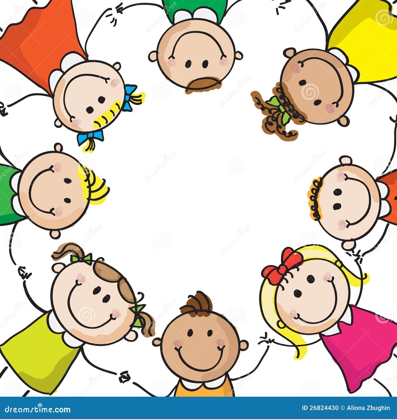 Dzieciaki w okręgu