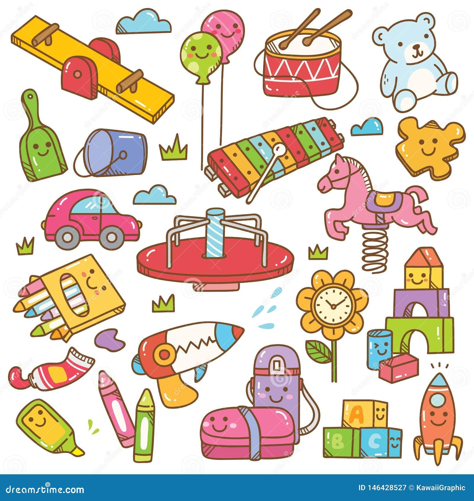 Dzieciniec i wyposa?enia doodle set bawimy si?