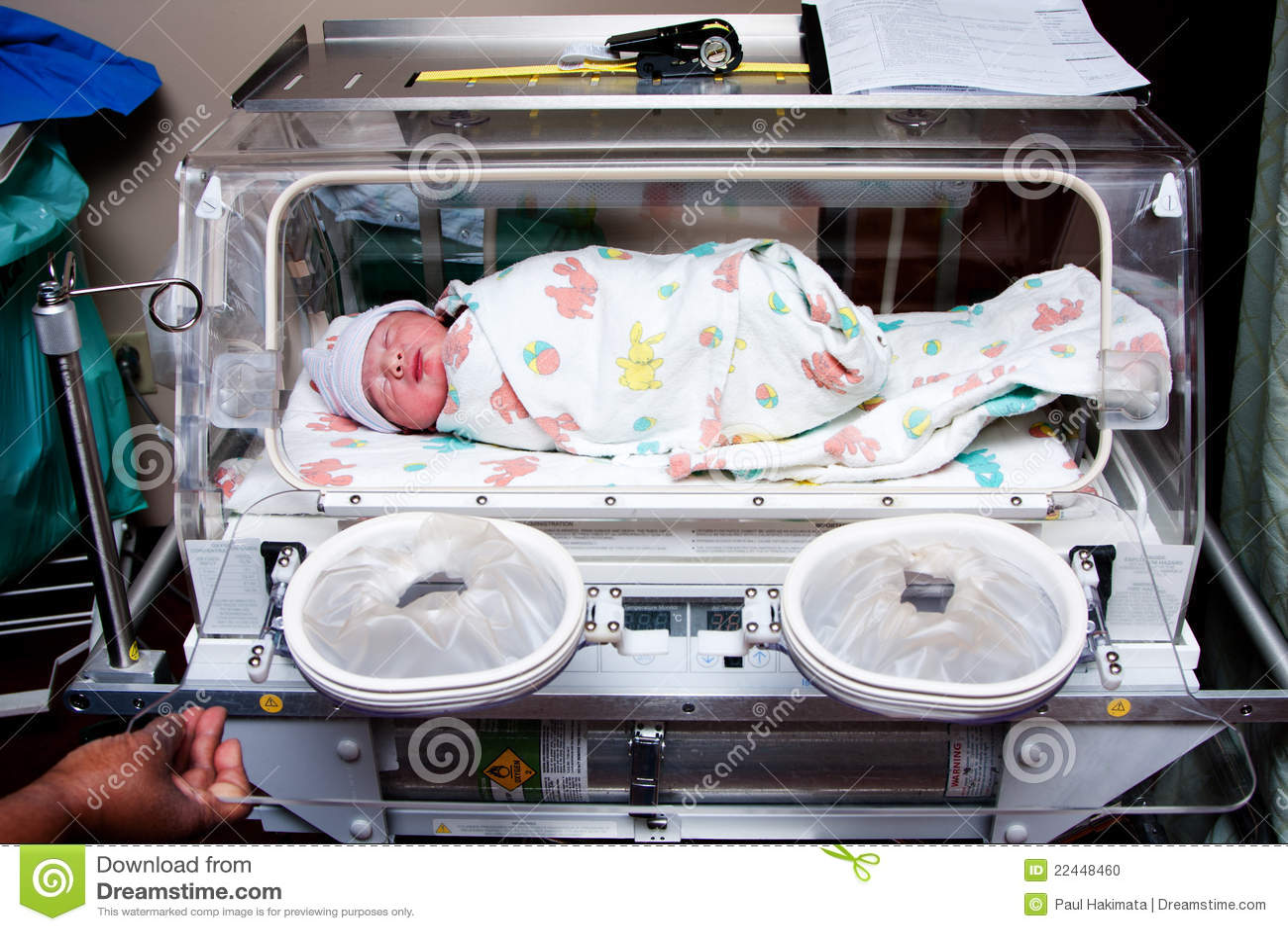 Dziecka śliczna inkubatoru choroba