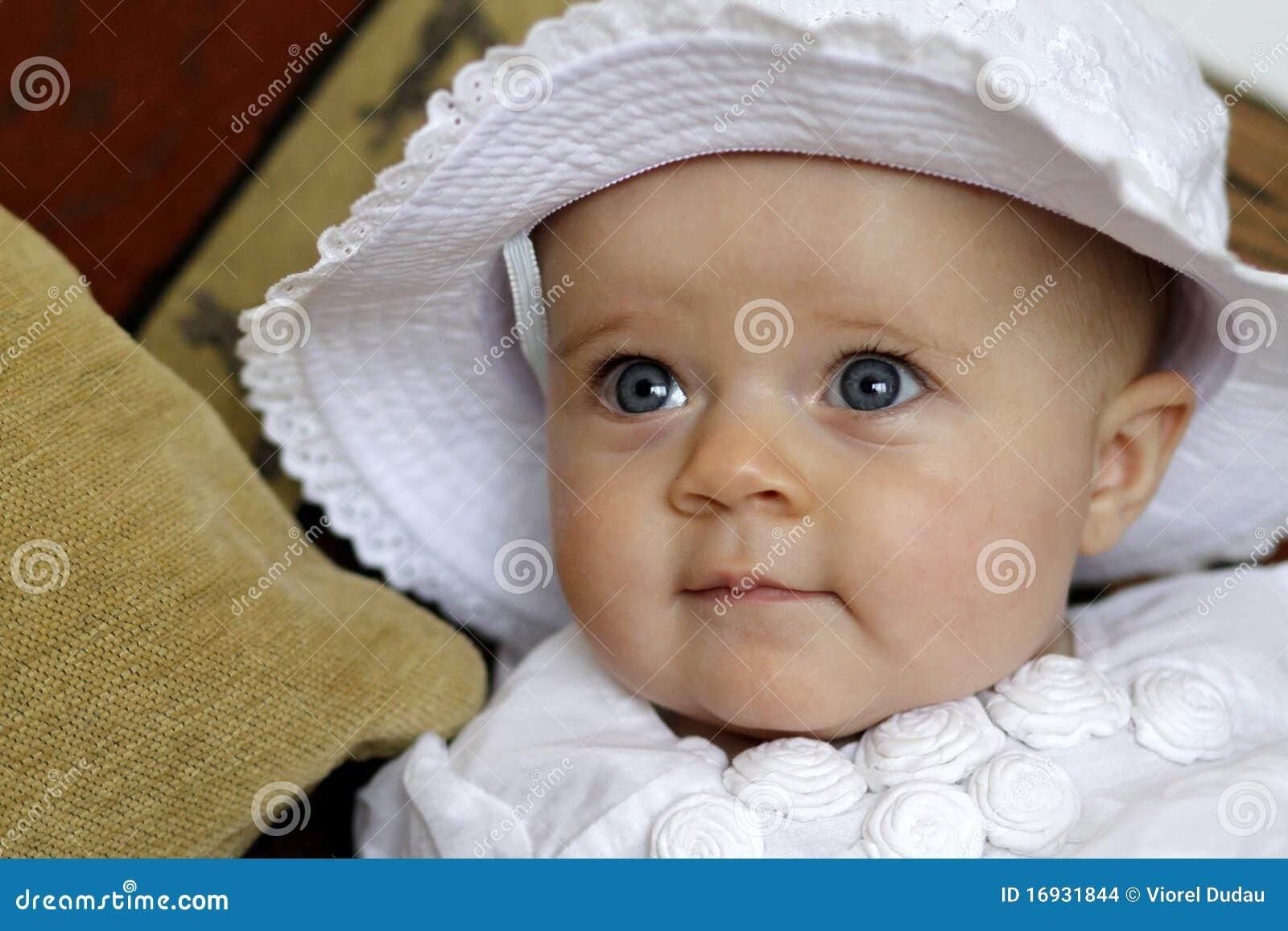Dziecka błękit śliczny oczu portret