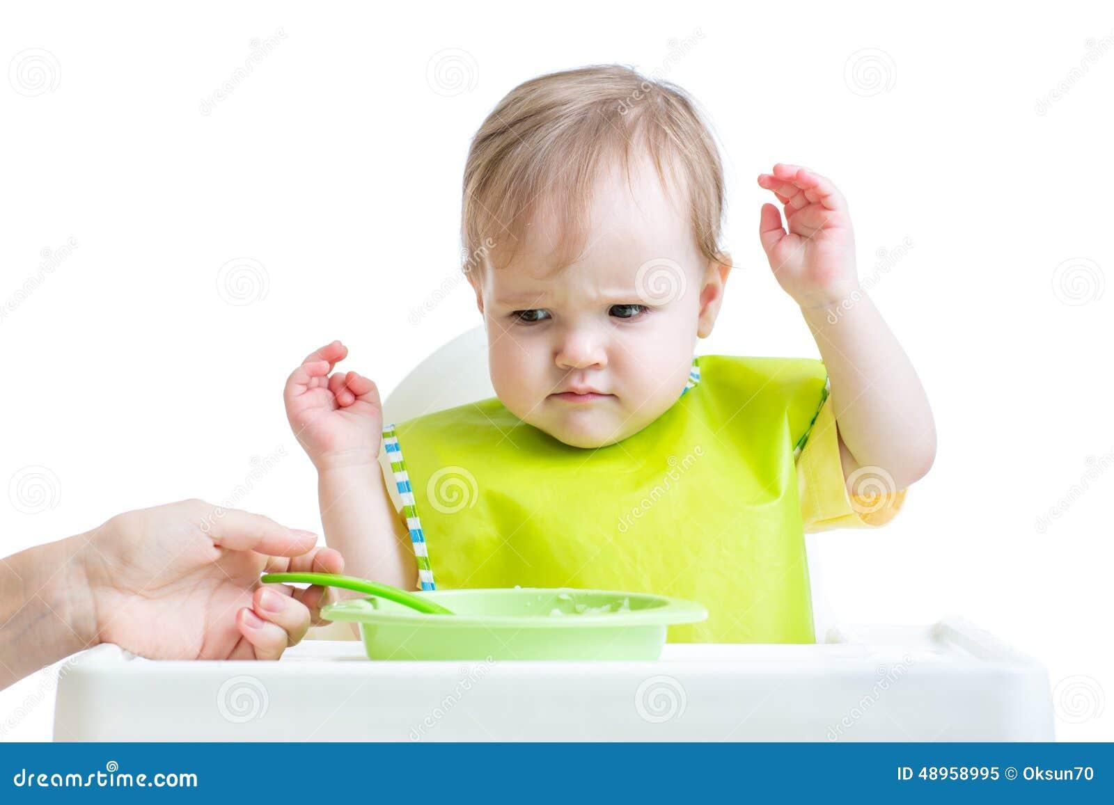 Dziecka dziecka odmawianie jeść