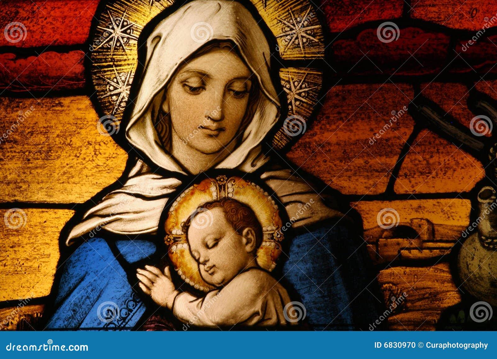 Dziecka Jesus Mary vigin