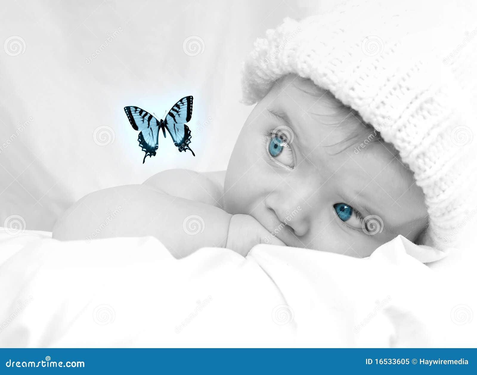 Dziecka target594_0_ motyli śliczny wymarzony mały
