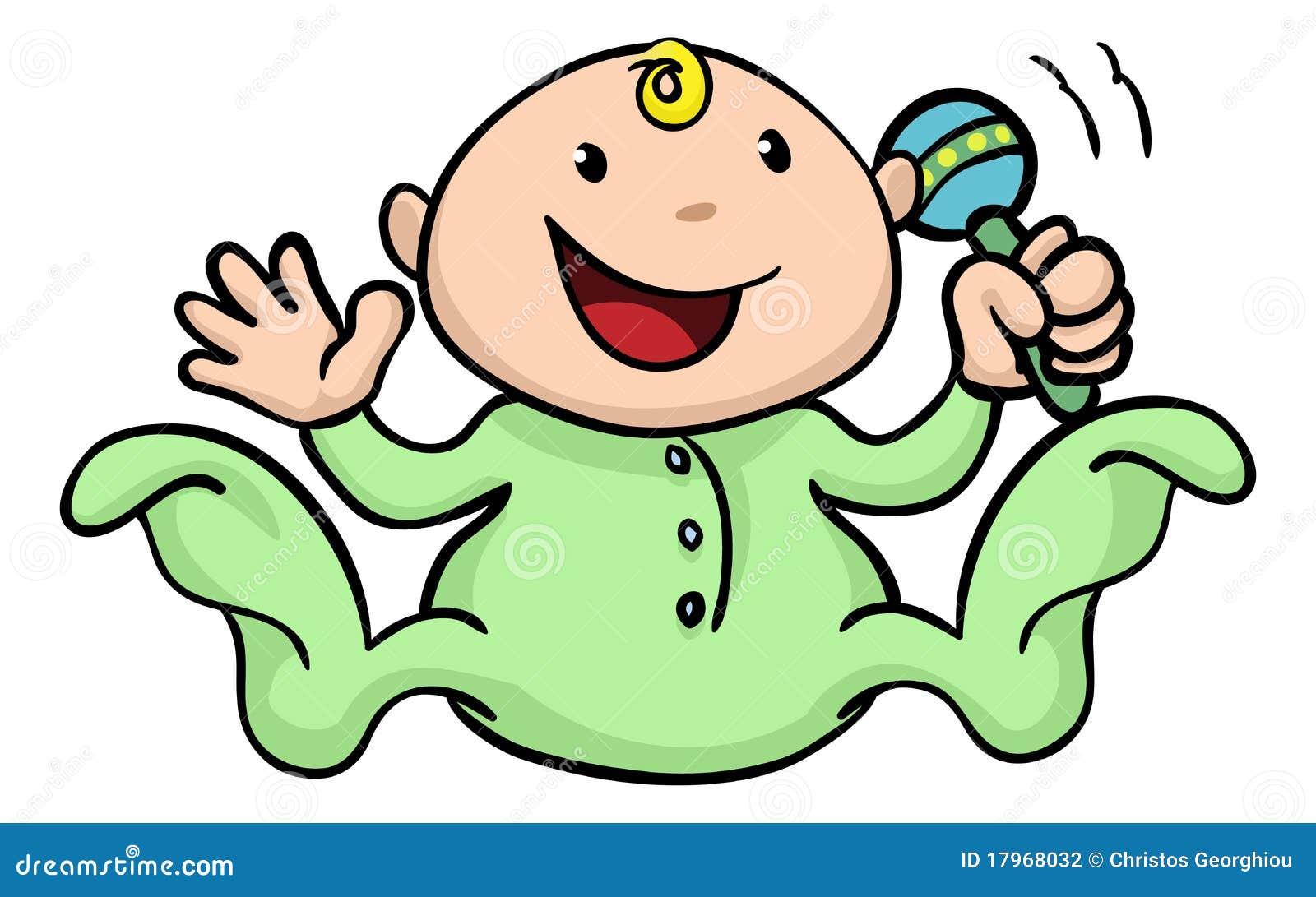 Dziecko brzęk śliczny szczęśliwy bawić się