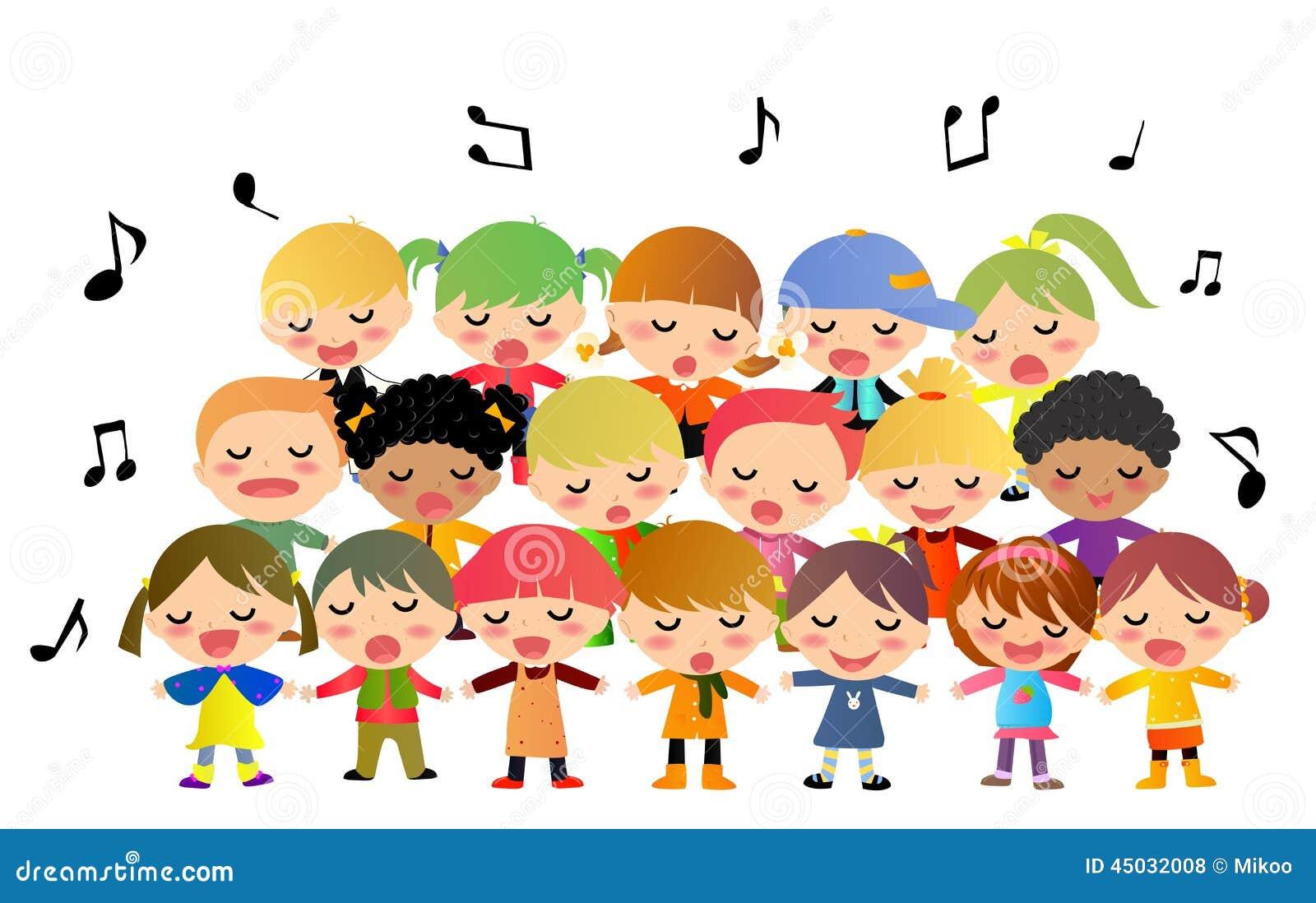 Dziecko choru śpiew