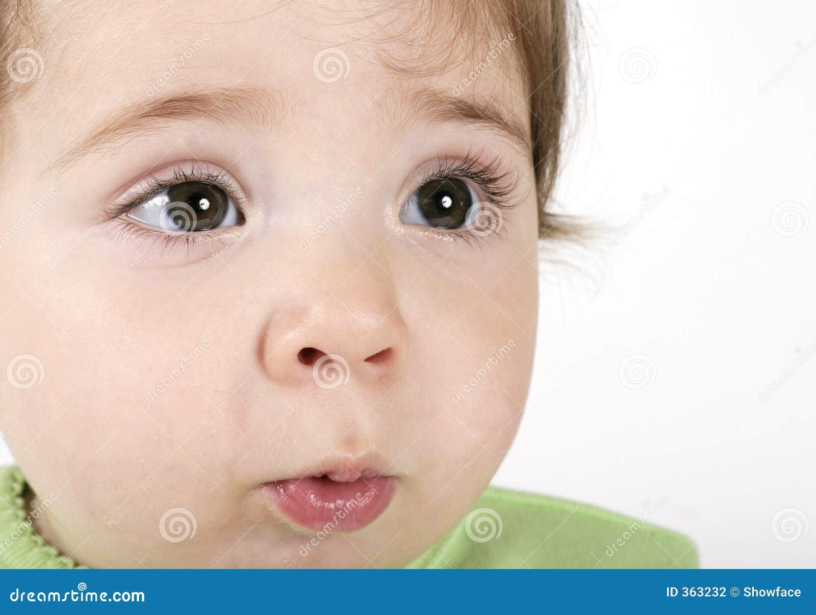 Dziecko ekspresyjna twarz
