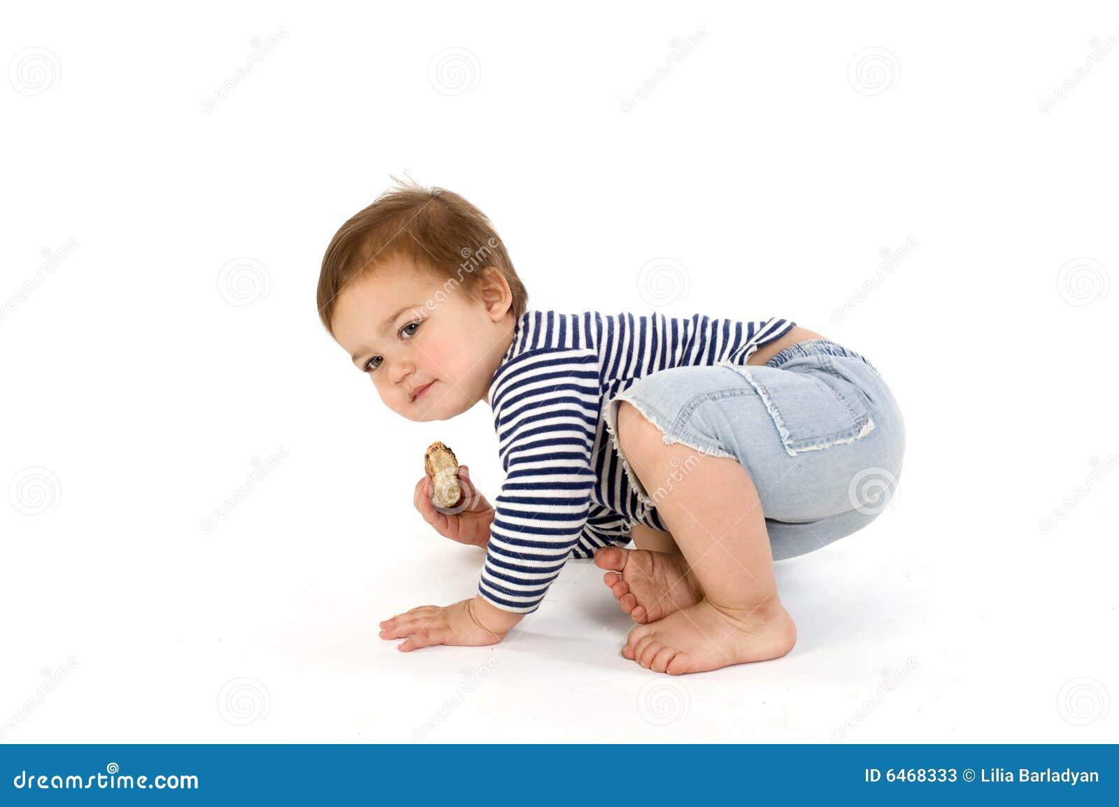Dziecko jest sailor kamizelka paskująca