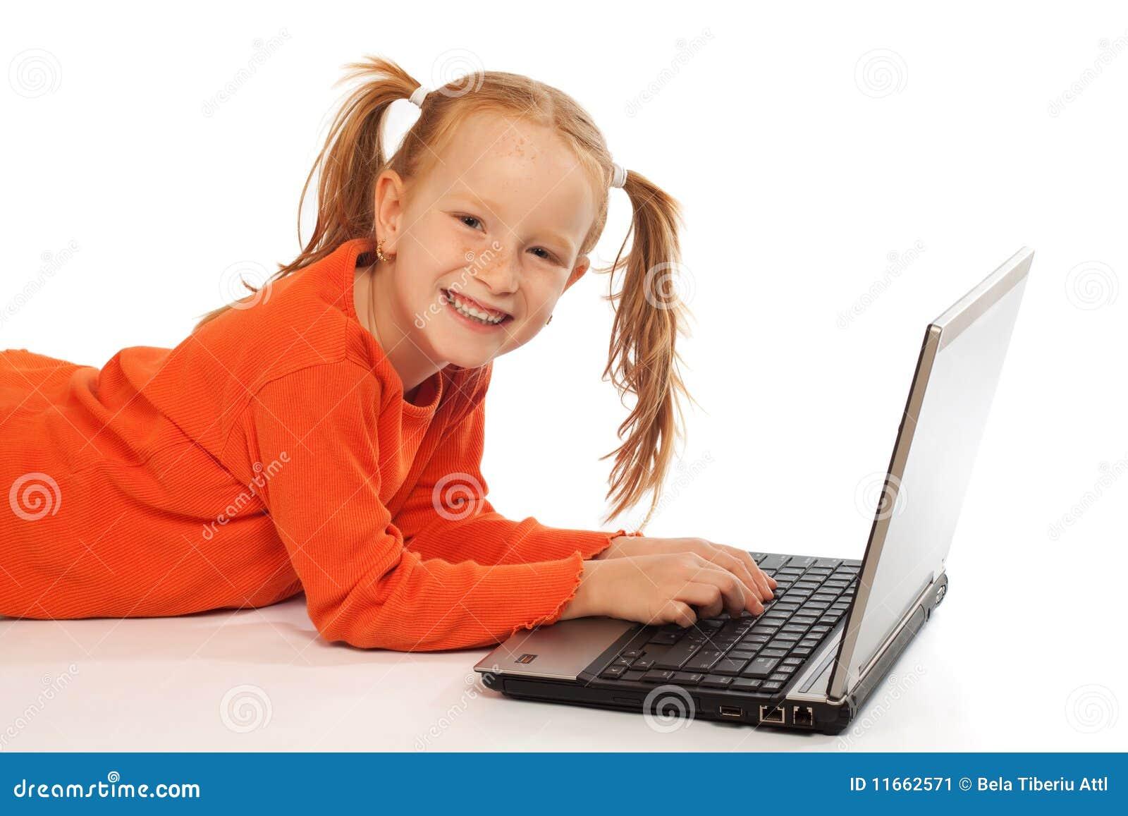 Dziecko laptop