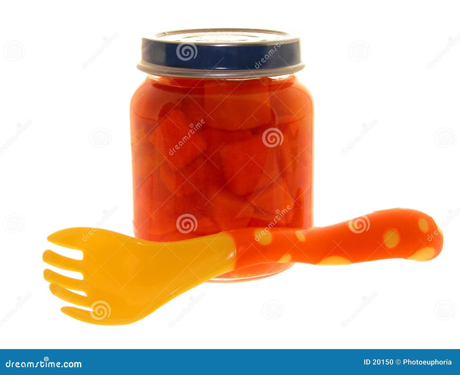 Dziecko marchewek słoik żywności